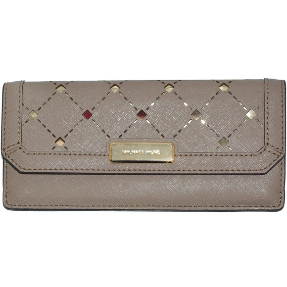 Michael Kors Jamey Flap Leather Slim Wallet